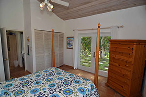 Air conditioned, walkout bedroom