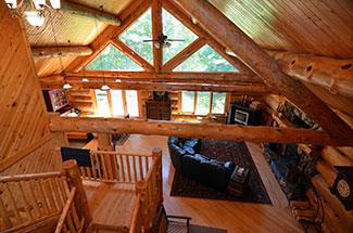 Beaver Lake loft view