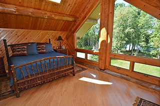 Master suite overlooking the lake